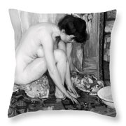 Small Nude Painting By Albert Worcester C. 1910 Throw Pillow