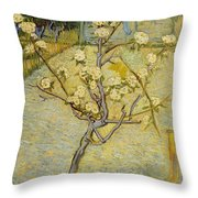 Small Pear Tree In Blossom Throw Pillow