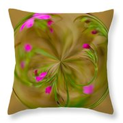 Small Pink Buds Throw Pillow