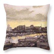 Small-port Santander Throw Pillow