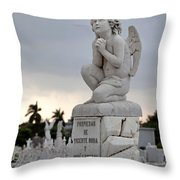 Small Praying Angel Throw Pillow