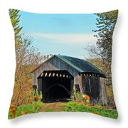 Small Private Country Bridge Throw Pillow