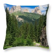 Small Road Along The River Throw Pillow
