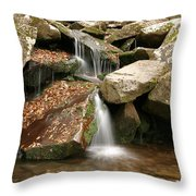 Small Rock Falls Throw Pillow