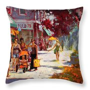 Small Talk In Elmwood Ave Throw Pillow