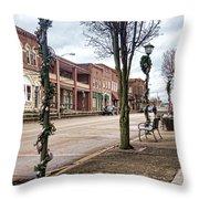 Small Town Christmas Throw Pillow