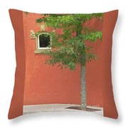 Small Town Color Throw Pillow