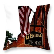 Small Town Patriotism Throw Pillow