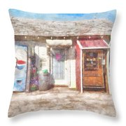 Small Town Pit Stop  Throw Pillow