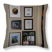 small Wall of Framed Throw Pillow