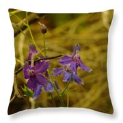 Small Wild Blossoms Throw Pillow