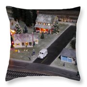 Small World - A Smalltown Holiday Throw Pillow