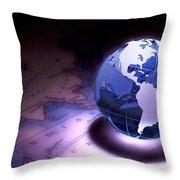 Small World Still Life Throw Pillow by Tom Mc Nemar