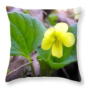 Small Yellow Violet Throw Pillow