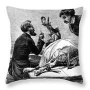 Smallpox Vaccine, 1883 Throw Pillow