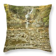 Smalls Falls In Autumn Western Maine Throw Pillow