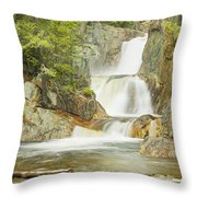 Smalls Falls In Western Maine Panorama Throw Pillow