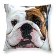 Smashface Throw Pillow
