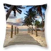 Smathers Beach 2 Throw Pillow