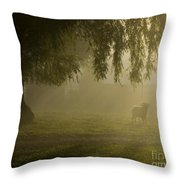 Smelly Goat In The Mist Throw Pillow