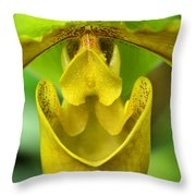 Smile - Orchid Art Photograph By Sharon Cummings Throw Pillow