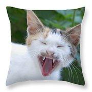 Smile Please Throw Pillow
