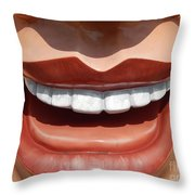 New Orleans Smile Though Your Heart Is Aching Throw Pillow