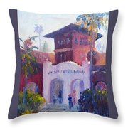 Smiley Library People Throw Pillow