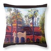 Smiley Library Too Throw Pillow