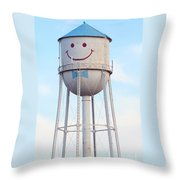 Smiley The Water Tower Throw Pillow