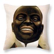 Smiling African American Circa 1900 Throw Pillow