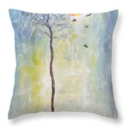 Smiling At Days End Throw Pillow