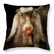 Smiling Egyptian Goat I Throw Pillow