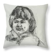 Smiling Little Girl With Dimples Throw Pillow