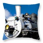 Smiling Locomotive Throw Pillow