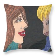 Smiling Princesses Throw Pillow