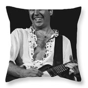 Smiling Sammy In Oakland 12-31-77 Throw Pillow