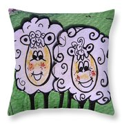 Ewe And Me Smiling  Throw Pillow