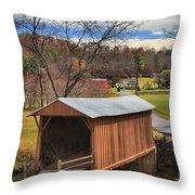 Smith River Covered Bridge Throw Pillow