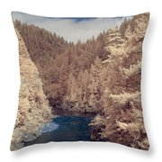 Smith River Forest Canyon Throw Pillow