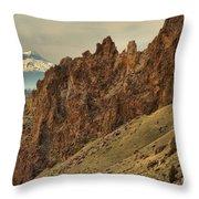 Smith Rock And Cascades Throw Pillow