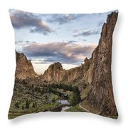 Smith Rock Throw Pillow