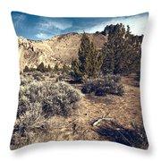 Smith Rock In Autumn Throw Pillow