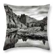 Smith Rock State Park 2 Throw Pillow