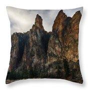 Smith Rock State Park 3 Throw Pillow
