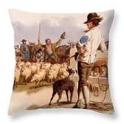 Smithfield Drover, From The Costumes Throw Pillow