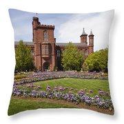 Smithsonian Castle No1 Throw Pillow