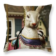 Smithville Carousel Rabbit Throw Pillow