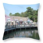 Smithvilles Shoppes Throw Pillow