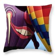 Smitten Hot Air Balloon Throw Pillow